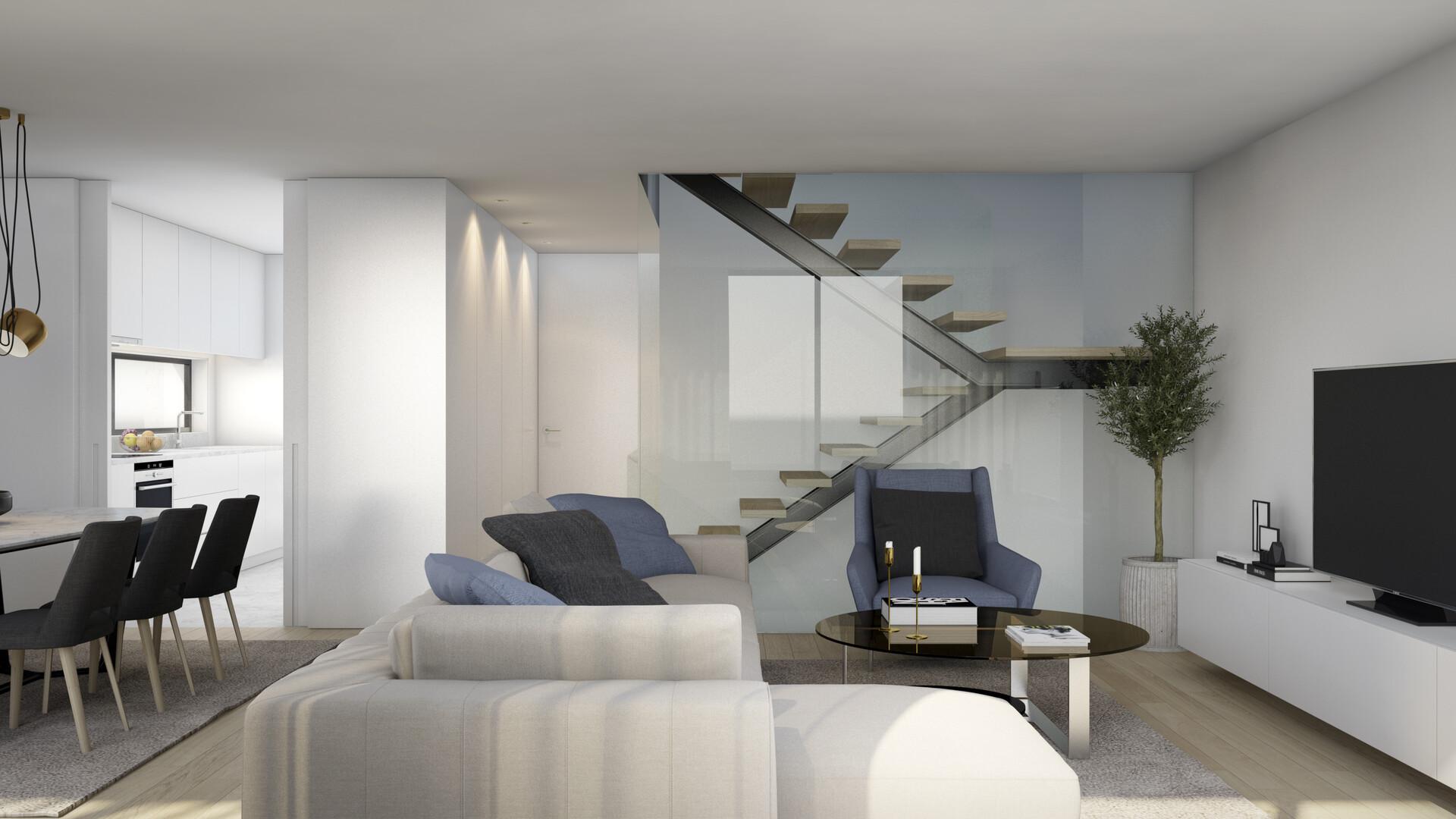 Sala de estar das Moradias da Joane Residences